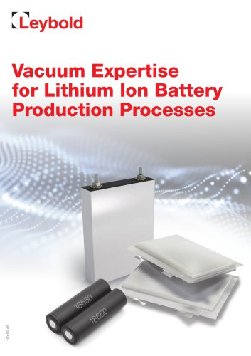 Vacuum for Battery Production
