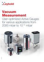 Vacuum Measurement - Sensors