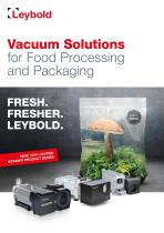 Vacuum Solutions for Food Processing and Packaging