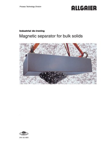 Magnetic separator for bulk solids