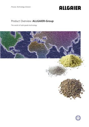 Product Overview ALLGAIER-Group