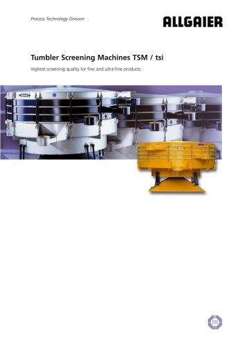 Tumbler Screening Machines TSM / tsi