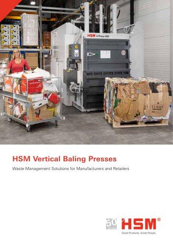 Vertical baling presses