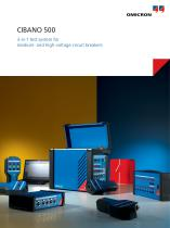 CIBANO 500 - 3-in-1 test system for medium- and high-voltage circuit breakers