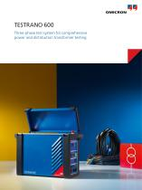 TESTRANO 600-Three-phase test system for comprehensive power and distribution transformer testing