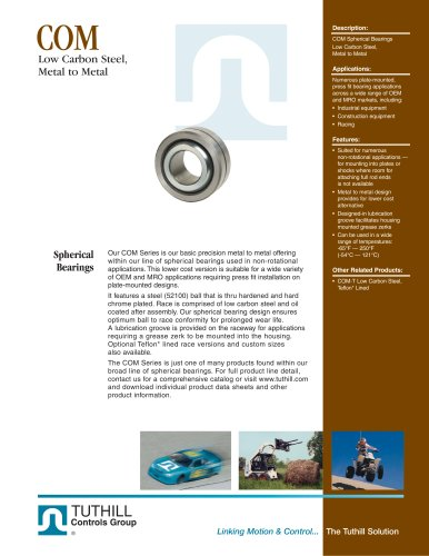 COM Metal-to-Metal Spherical Bearings