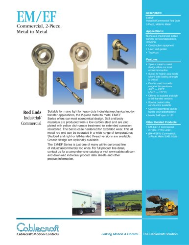 EM/EF 2-piece Metal to Metal Rod Ends