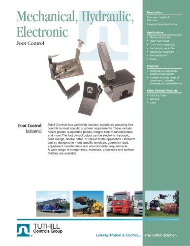 Foot Control - Mechanical, Hydraulic, Electronic