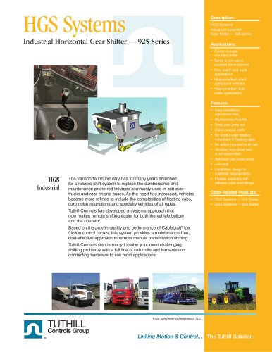 Horizontal Gear Shifter - 925 Series