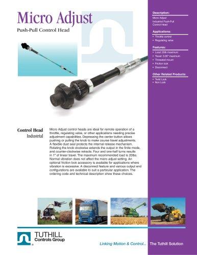 Micro Adjust Push-Pull Control Head