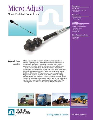 Micro Adjust Push-Pull Control Head - METRIC
