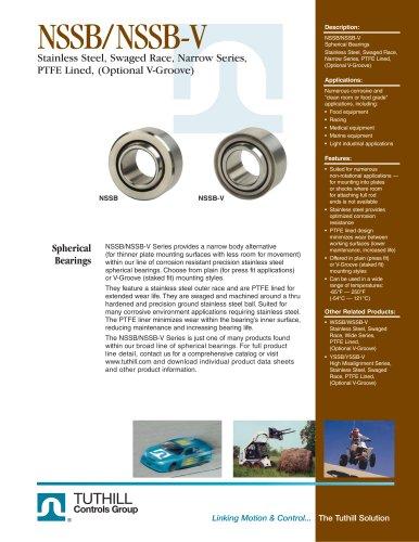 NSSB/NSSB-V Stainless Steel Narrow Series PTFE Lined Spherical Bearings