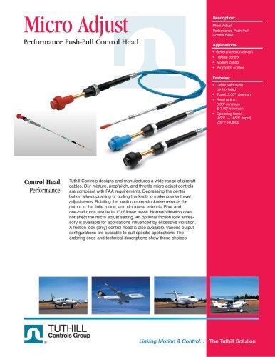 Performance Push-Pull Control Head - Micro Adjust