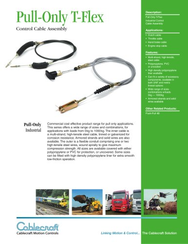 Pull-Only Cable - T-Flex