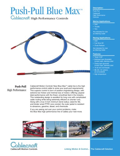 Push-Pull Blue Max High Performance Cable
