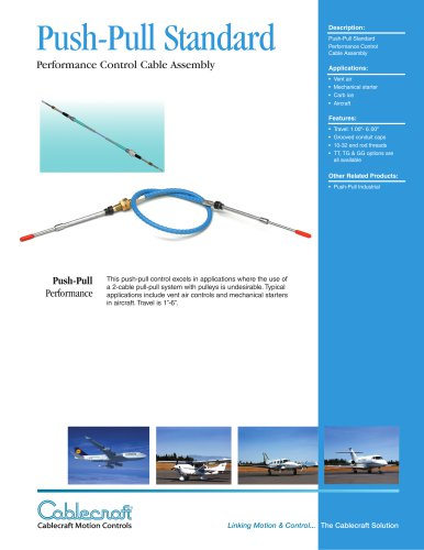 Push-Pull Standard Aircraft Cable