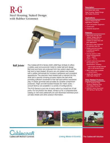 R-G  Staked Ball Joint with Grommet