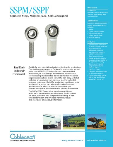 SSPM/SSPF Molded Race Stainless Steel Rod Ends