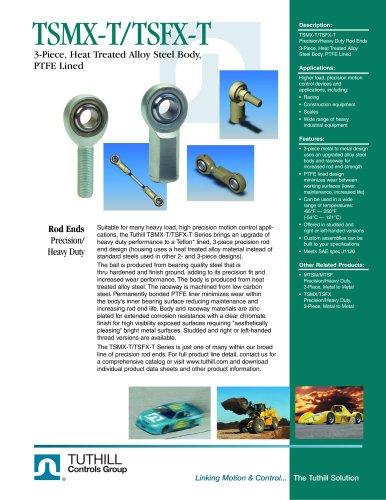 TSMX-T/TSFX-T 3-pc PTFE Lined Alloy Rod Ends