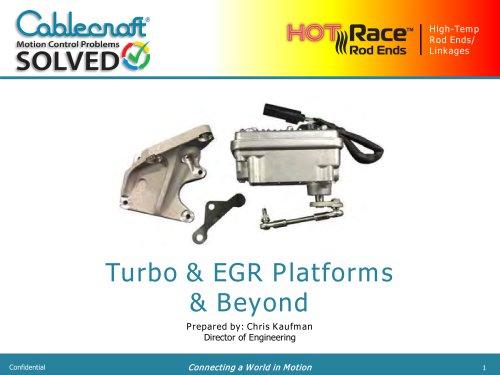 Turbo & EGR Platforms & Beyond