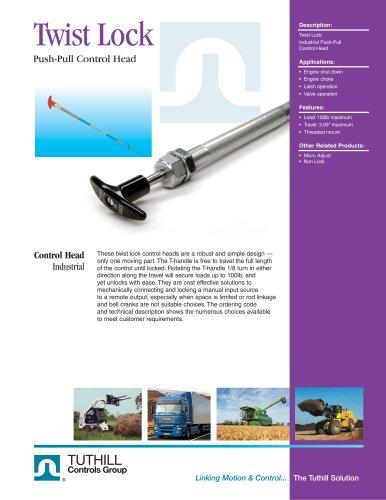 Twist Lock Push-Pull Control Head