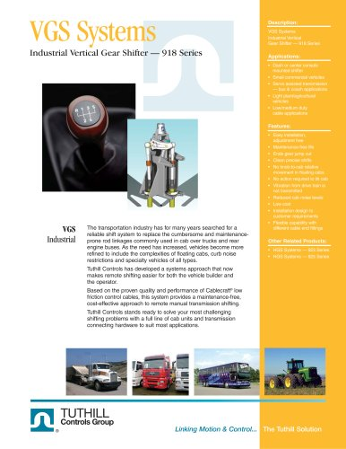 Vertical Gear Shifter - 918 Series