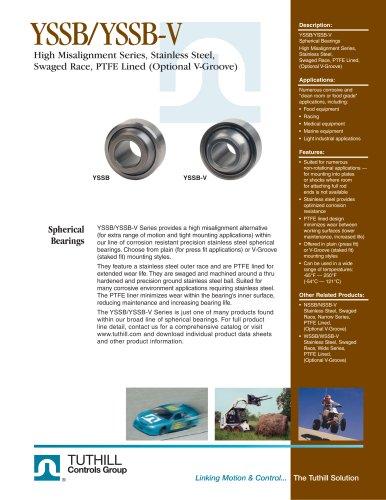 YSSB/YSSB-V Stainless High Misalignment PTFE Lined Spherical Bearings
