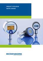 Product Catalogue - Digital Gauges