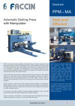 Faccin Hydraulic Automatic Dishing Press PPM+MA Series