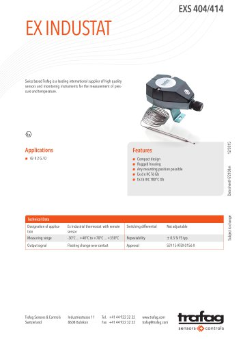Data Sheet EXS 404/414