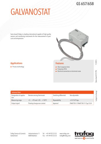 Data Sheet GS 657/658