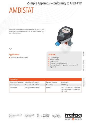 Data Sheet «Simple Apparatus» conformity to ATEX 419