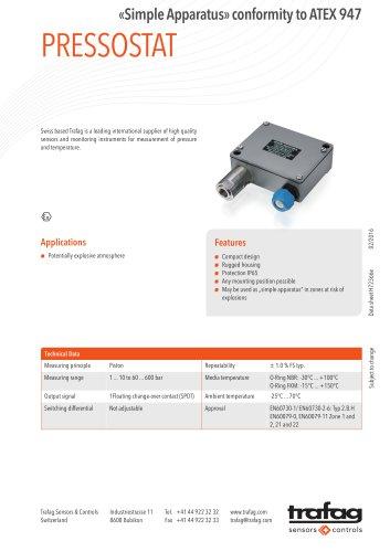Data Sheet «Simple Apparatus» conformity to ATEX 947