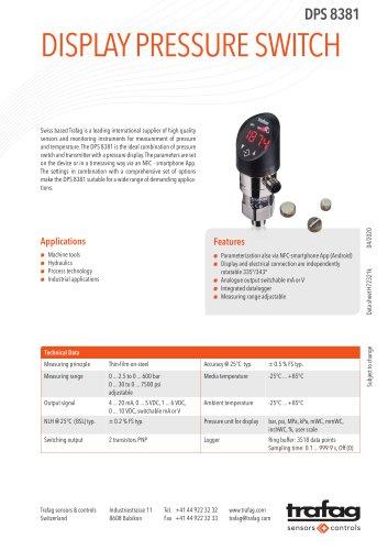 DISPLAY PRESSURE SWITCH DPS 8381