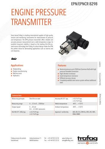 ENGINE PRESSURE TRANSMITTER EPN/EPNCR 8298