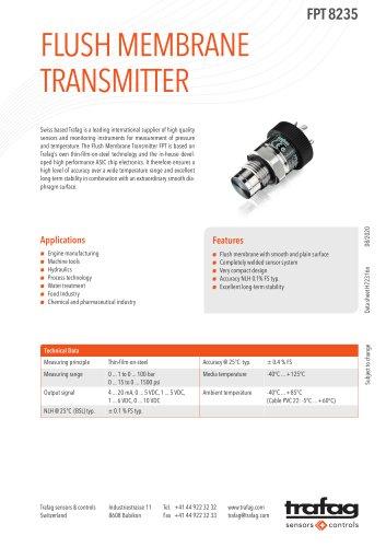 Flush Membrane Transmitter