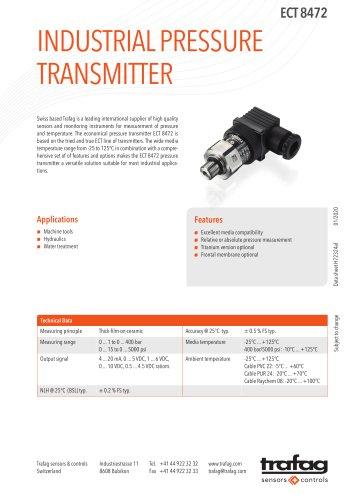INDUSTRIAL PRESSURE TRANSMITTER ECT 8472