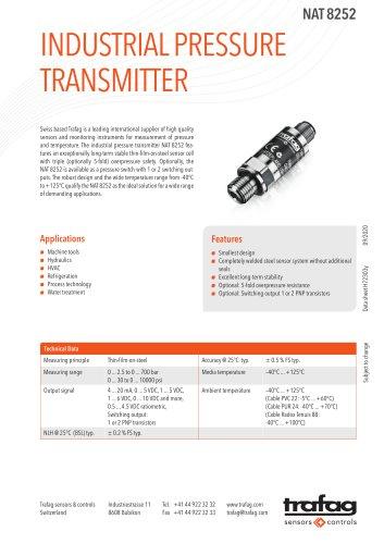 Industrial pressure transmitter NAT 8252