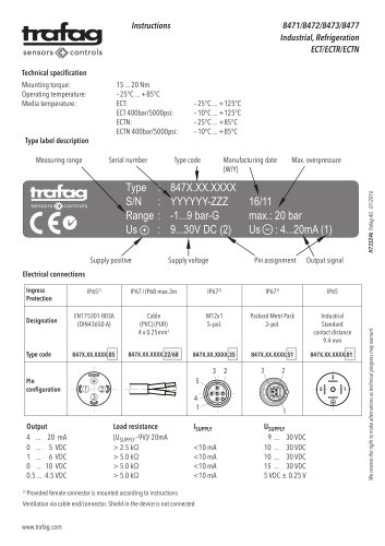 Instruction ECTR 8471