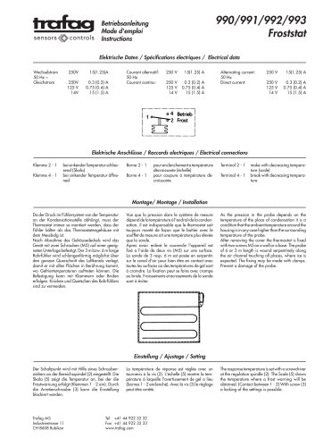 Instruction F/F...R 990/991/992/993