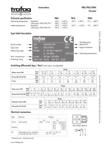 Instruction PST4K 9K4