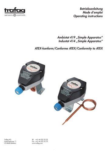 Instruction «Simple Apparatus» conformity to ATEX 419