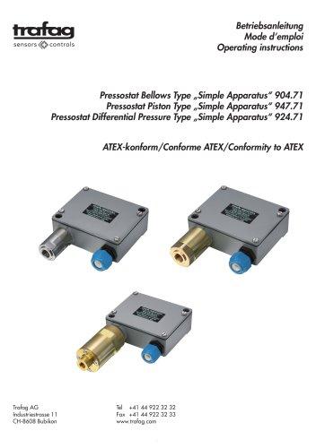 Instruction «Simple Apparatus» conformity to ATEX 947