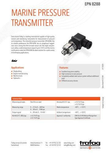 MARINE PRESSURE TRANSMITTER EPN 8288