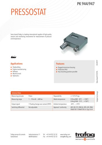 Pressostat PK 944/947
