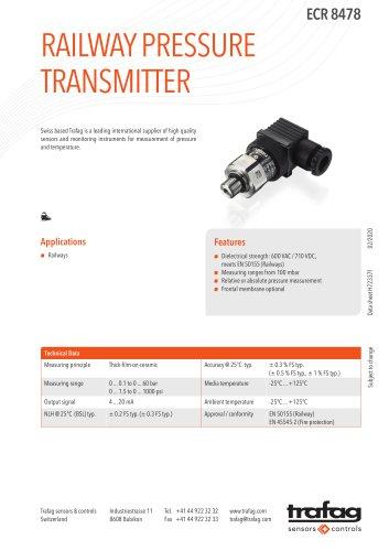 RAILWAY PRESSURE TRANSMITTER ECR 8478