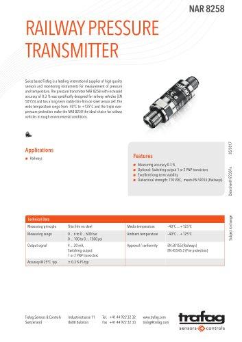 Railway pressure transmitter NAR 8258