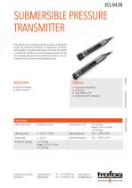 SUBMERSIBLE PRESSURE TRANSMITTER ECL 8438