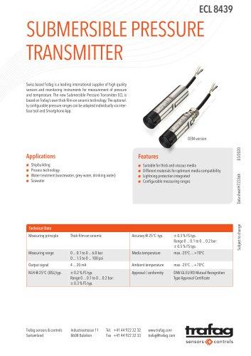 SUBMERSIBLE PRESSURE TRANSMITTER  ECL 8439