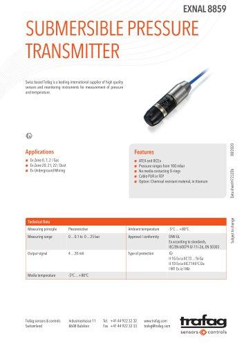 SUBMERSIBLE PRESSURE TRANSMITTER EXNAL 8859